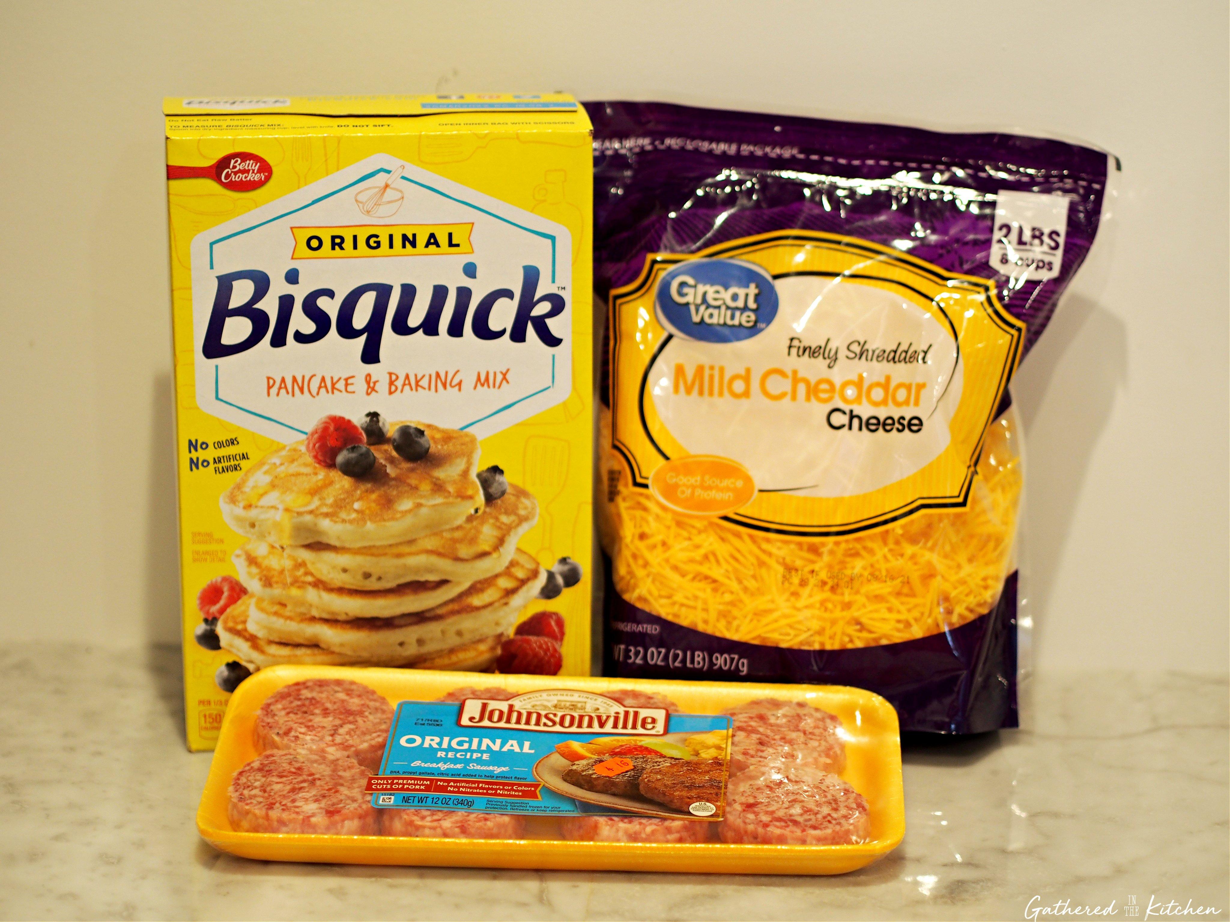 3 Ingredient Cheesy Sausage Breakfast Balls