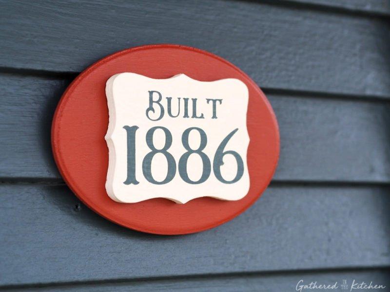 DIY House Number Door Plaque