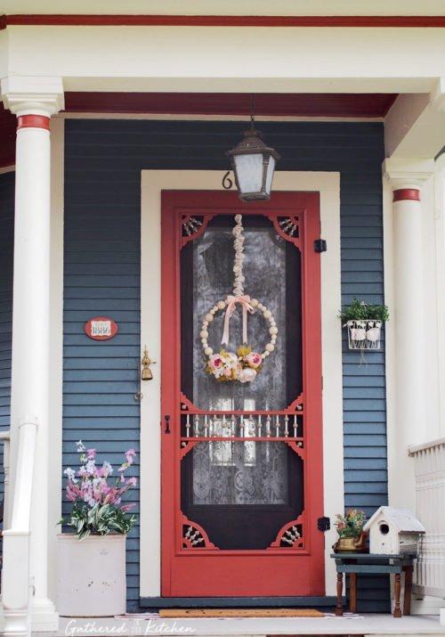 beautiful victorian front porch door