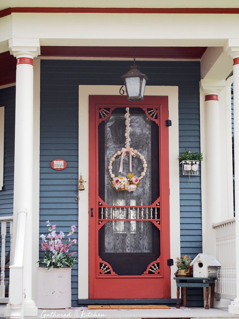 beautiful victorian front porch door