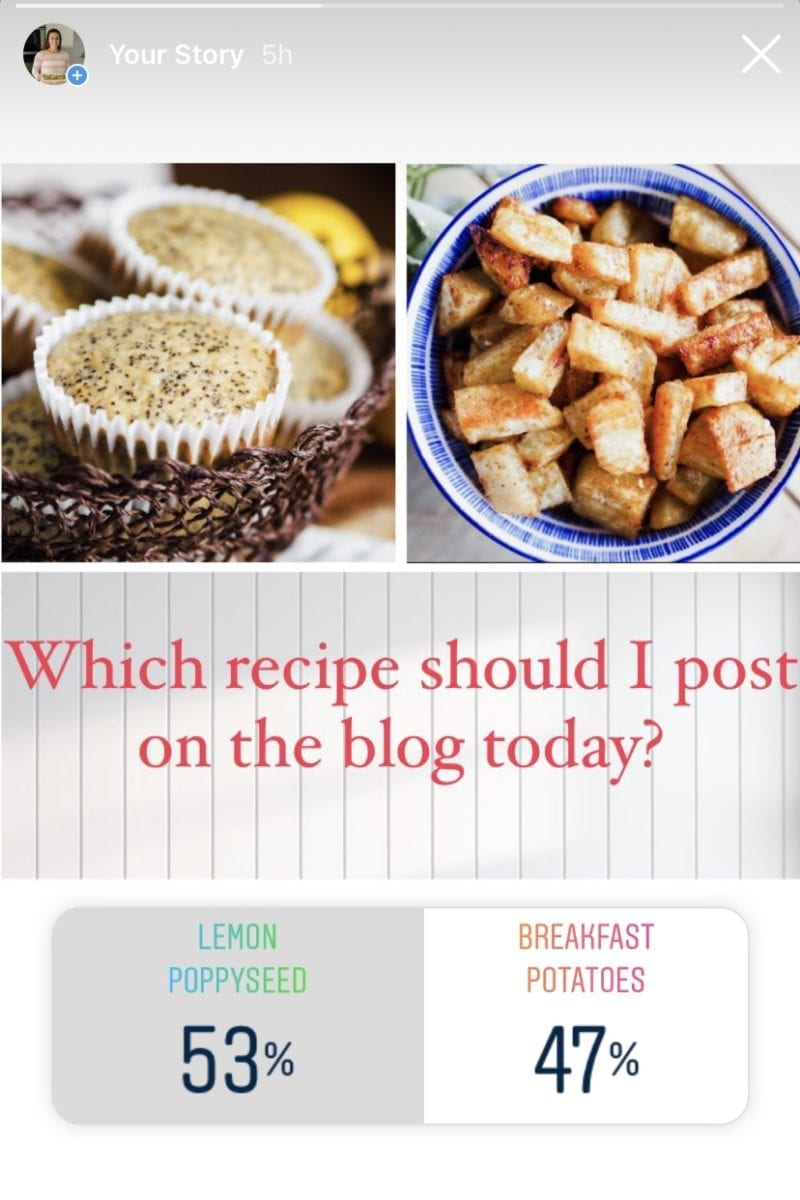 gathered in the kitchen recipe poll on instagram