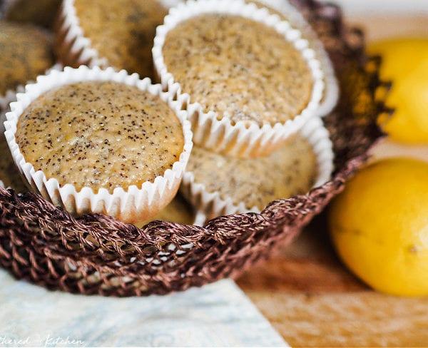 Lemon Poppy Seed Muffins with Greek Yogurt | Moist & Delicious