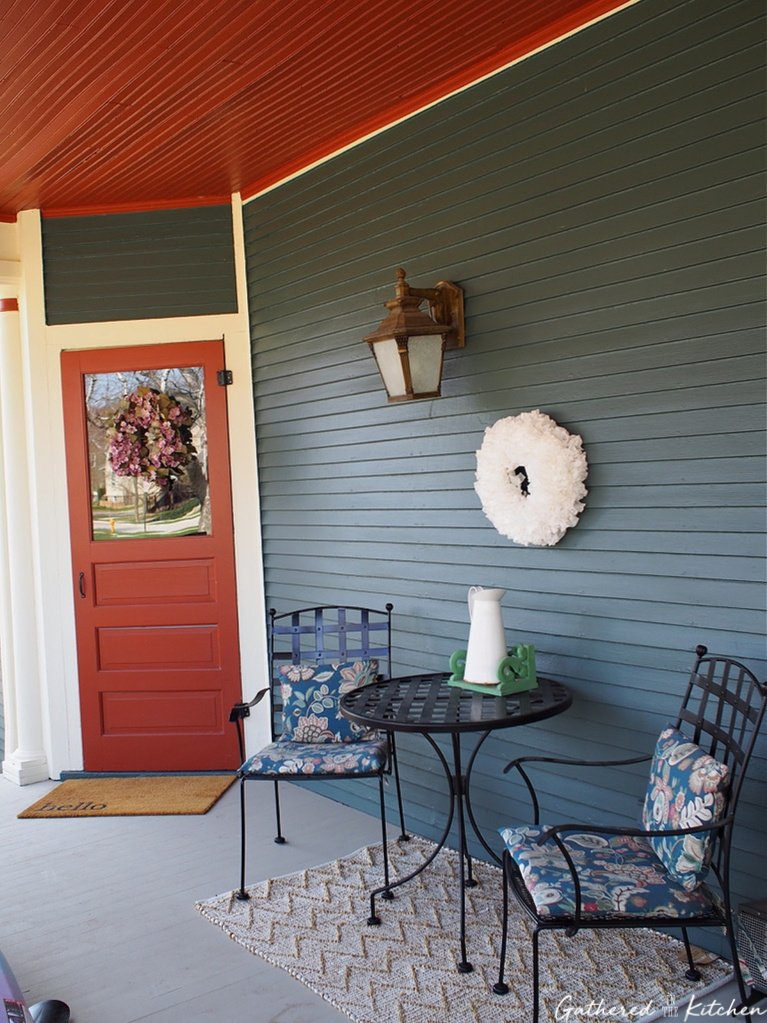 Wrap around porch seating area