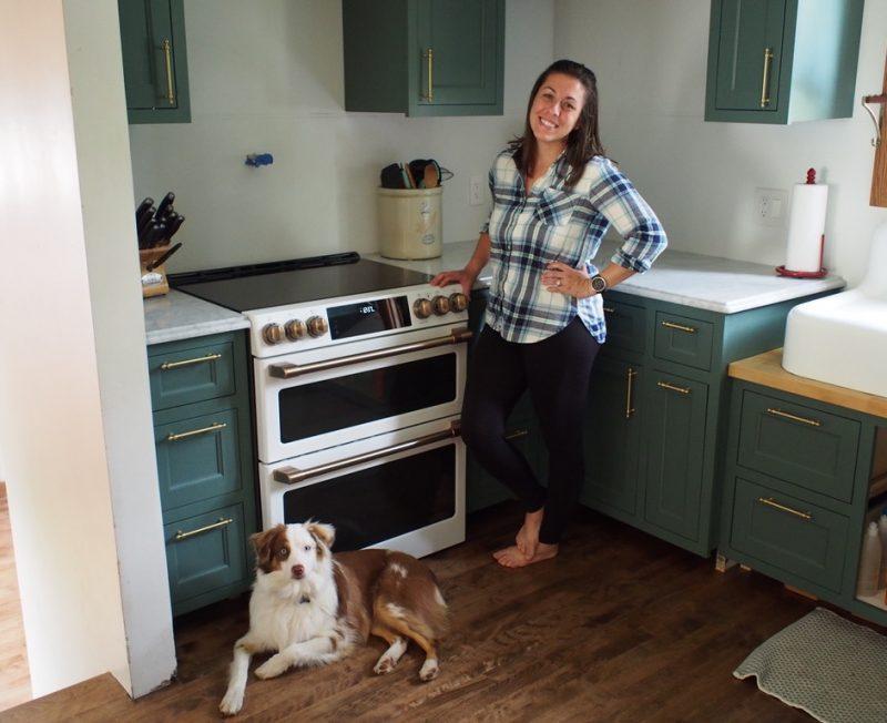 Green cabinet kitchen