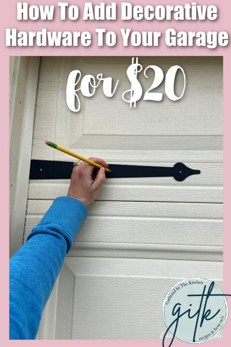 how to add decorative hardware to your garage for $20