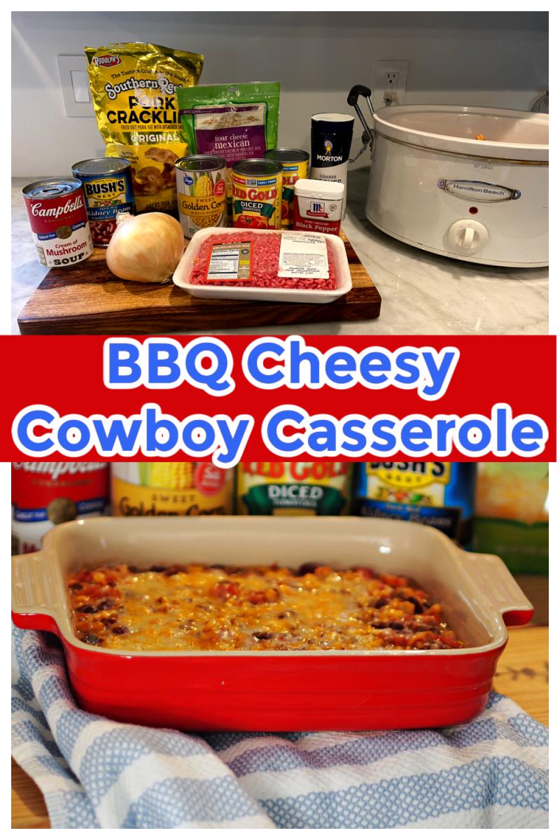 BBQ Cheesy Cowboy Casserole