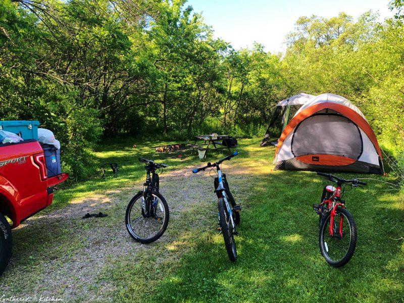 Camping at Devil's Lake State Park, Baraboo, WI