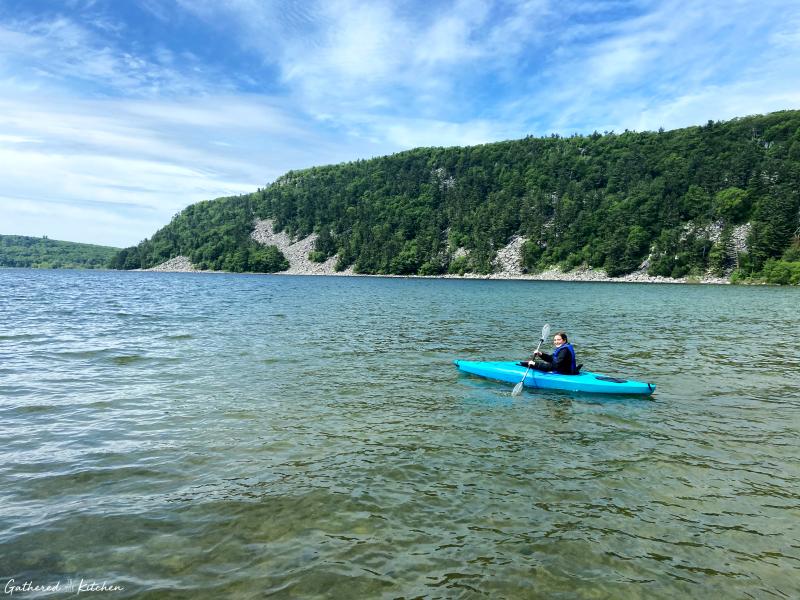 Kayaking at Devil's Lake State Park, Wisconsin