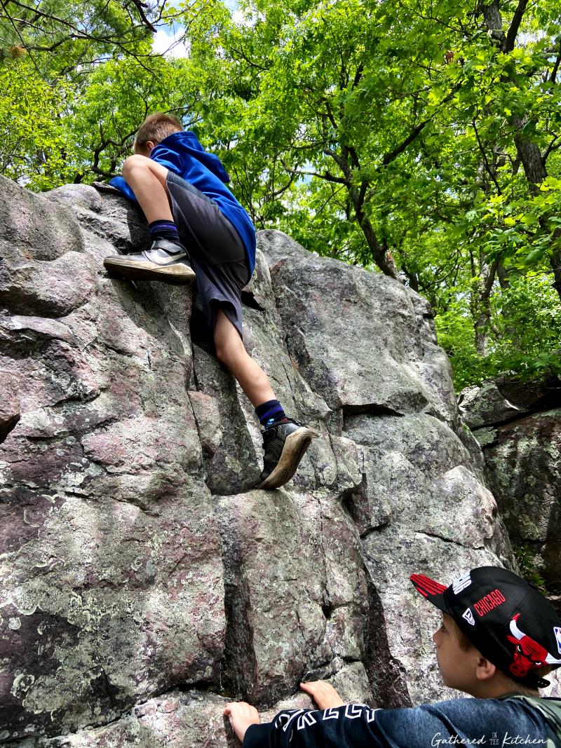 Rock Climbing at Devil's Lake State Park, Baraboo, WI
