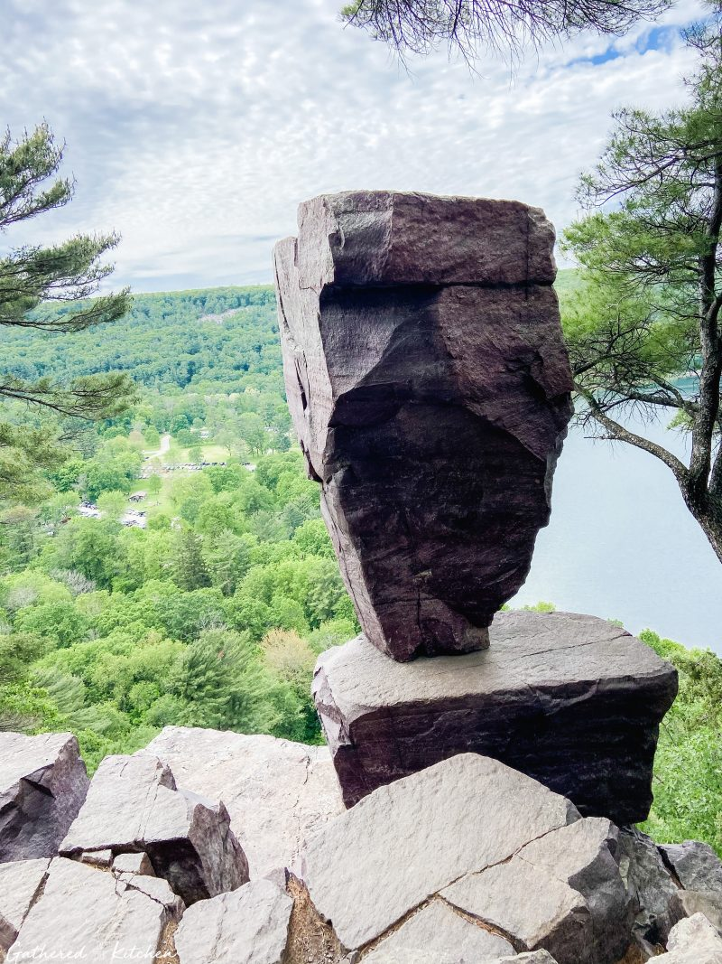 Balanced Rock at Devil's Lake State Park, Baraboo, WI