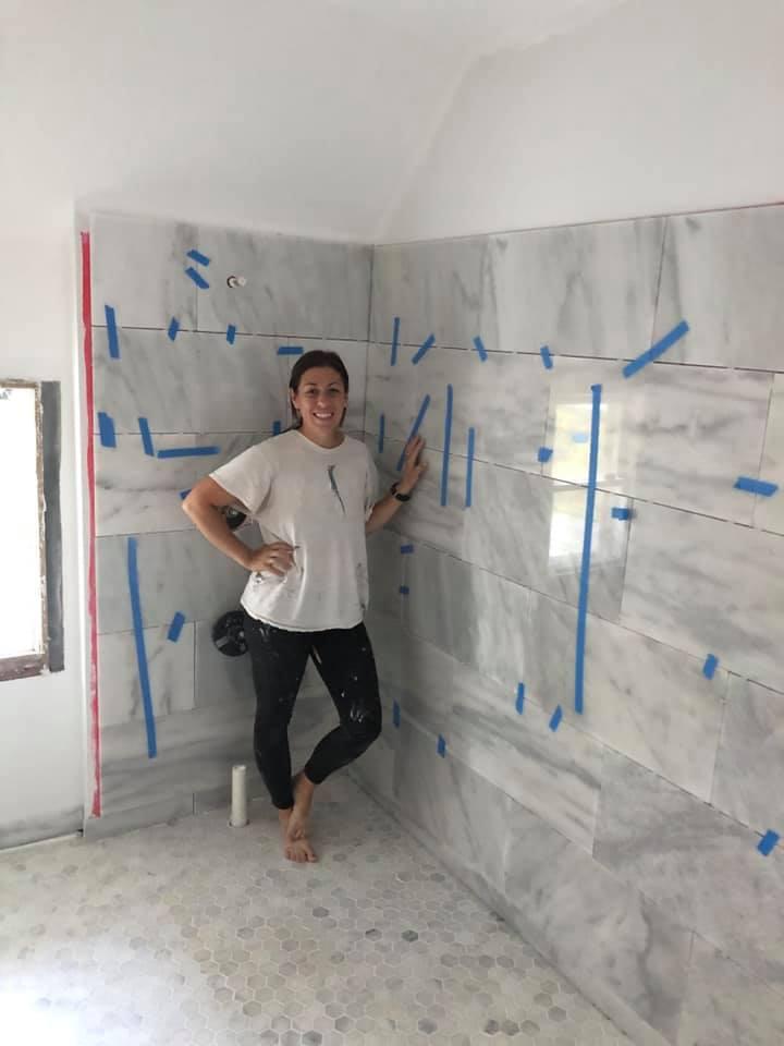Marble Tile Wall in Bathroom