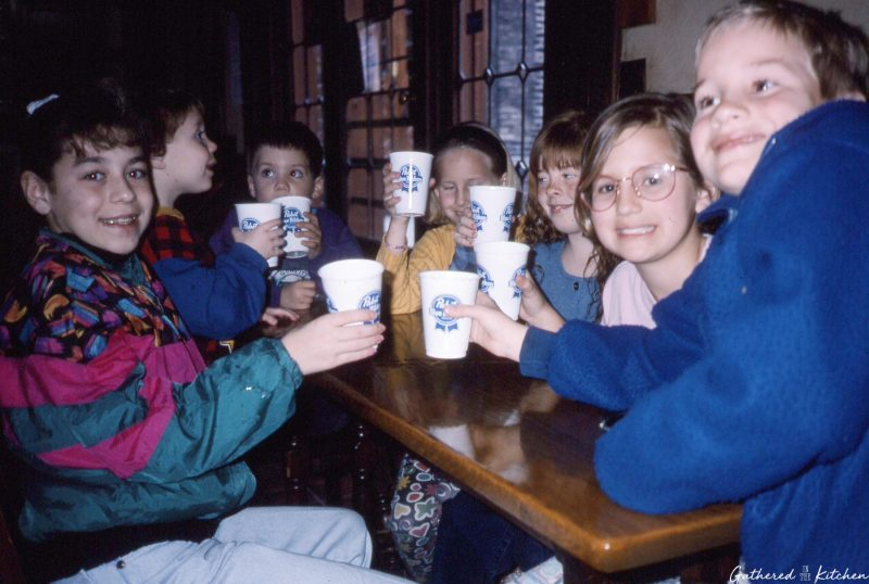 kids toasting at Pabst Brewery Tour