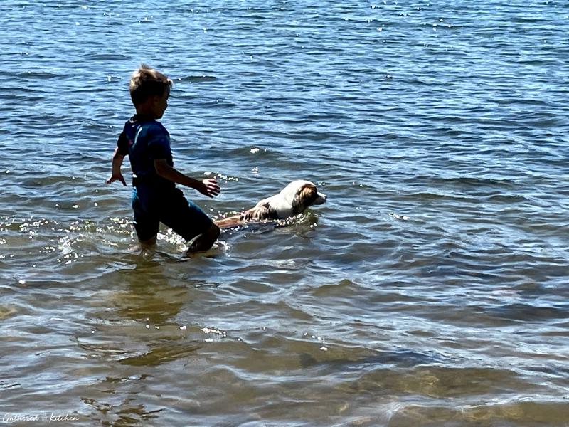 Swimming at Devil's Lake State Park, Baraboo, WI