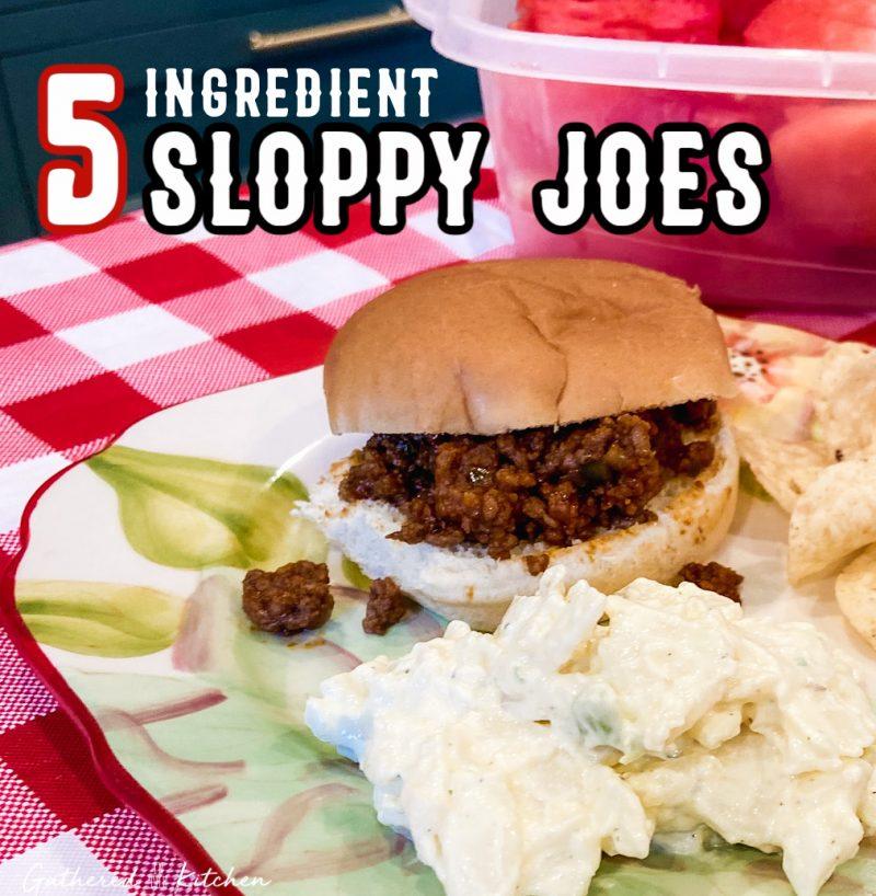5 Ingredient Sloppy Joes