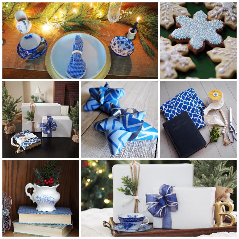 Blue and white Christmas decor ideas
