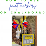 How to use paint markers on chalkboards