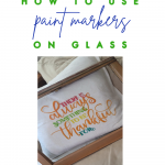 How to use paint markers on glass