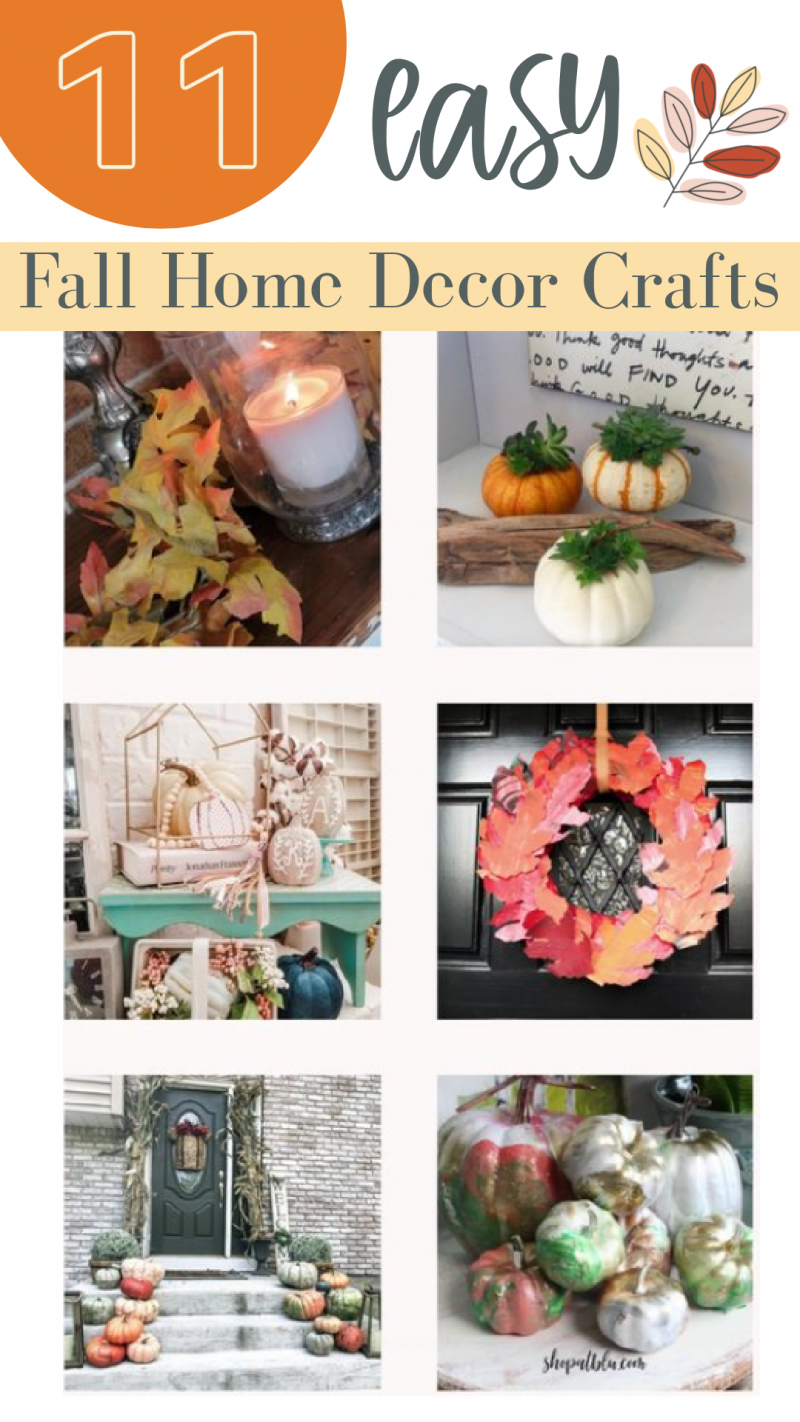 11 easy fall home decor crafts | gathered in the kitchen
