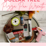 How to make a wreath from a Dollar Tree pizza pan