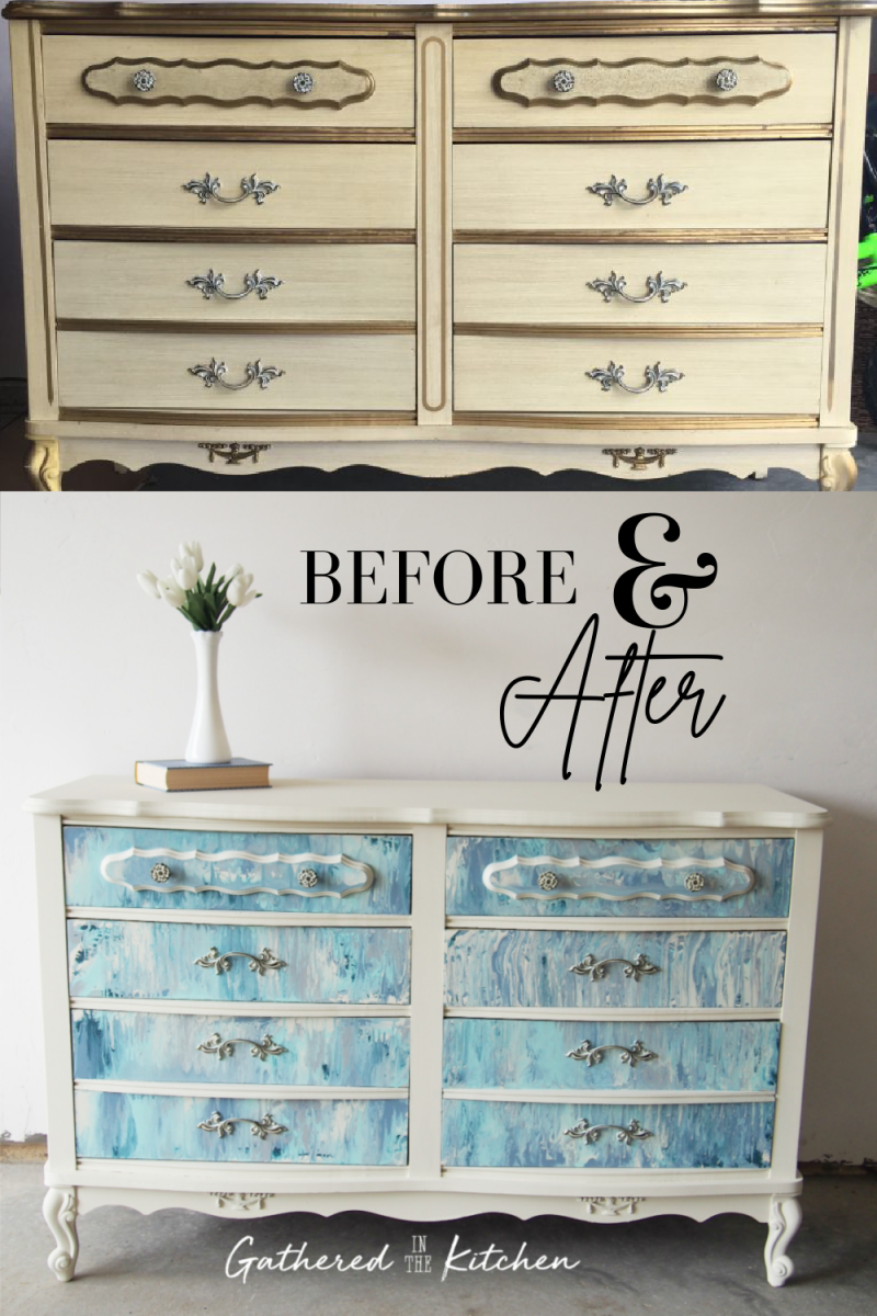 How To Paint Pour on Furniture