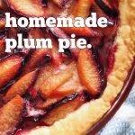 Homemade Plum Pie end of summer pie