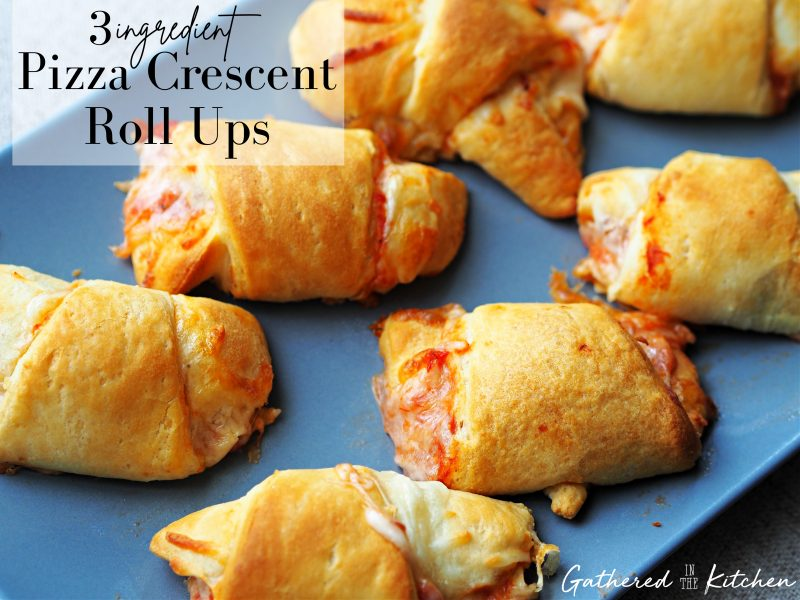 3 Ingredient Pizza Crescent Roll Ups