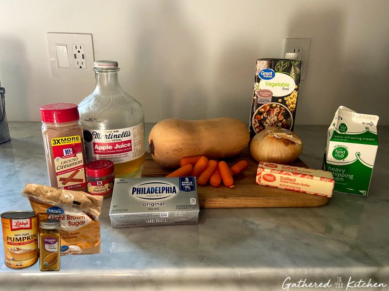 Ingredients for Copycat Panera Autumn Squash Soup