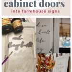 How to Repurpose Cabinet Doors into Farmhouse Signs | Gathered In The Kitchen