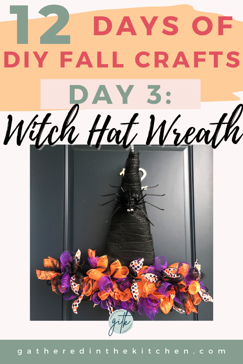 Dollar Tree Witch Hat Wreath | Gathered In The Kitchen