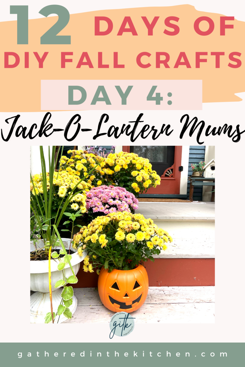 Jack-O-Lantern Potted Mums | Gathered In The Kitchen