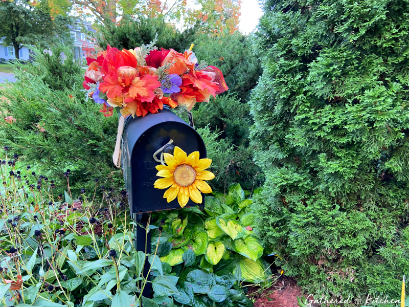 How To Make A Floral Mailbox Swag for Fall   Gathered In The Kitchen